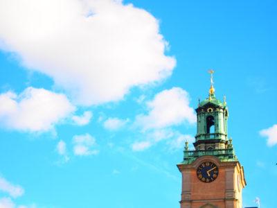 魔女の宅急便の時計塔にそっくり!ガムラスタンの大聖堂