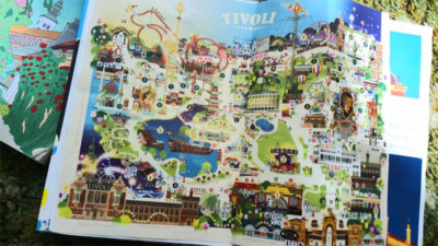 イラストが可愛いチボリ公園パンフレット、案内図