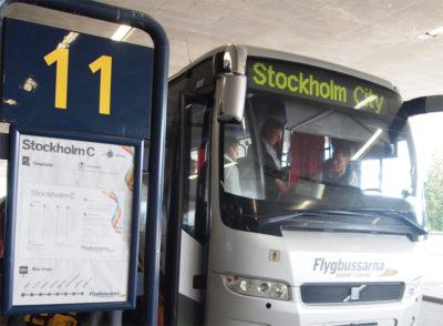 ストックホルム・アーランダ空港から市内へのバス