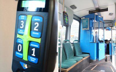 ヘルシンキのトラム車内
