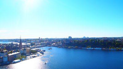 市庁舎の塔から見るセーデルマルム地区