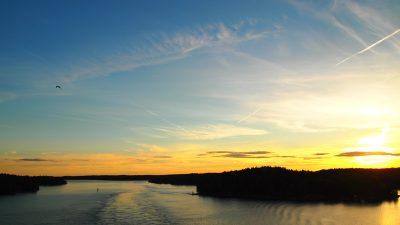 バルト海の夕日