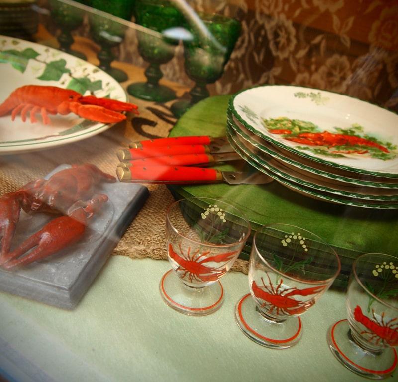 ザリガニパーティ用食器