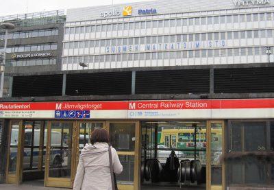 ヘルシンキ中央駅の地下鉄入り口