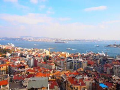 ガラタ塔から見るイスタンブール