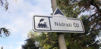 チェコ鉄道看板