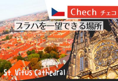 ヨーロッパらしい景色を一望☆プラハ城の教会南搭からの展望に感動!