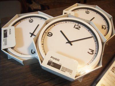 IKEAのシンプル時計