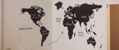 ウォールステッカー(ワールドマップ)