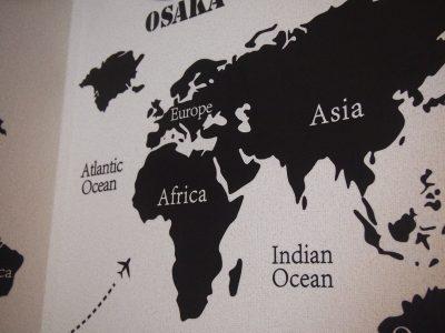 世界地図ウォールステッカー