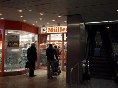 ミュンヘン中央駅のミュラー