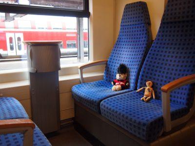ドイツ鉄道DBの車内