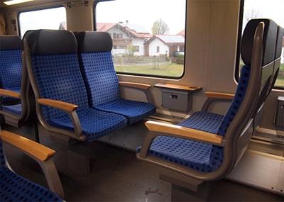 DBドイツ鉄道の座席