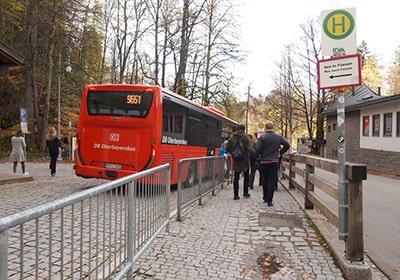 DBバスホーエンシュヴァンガウのバス停