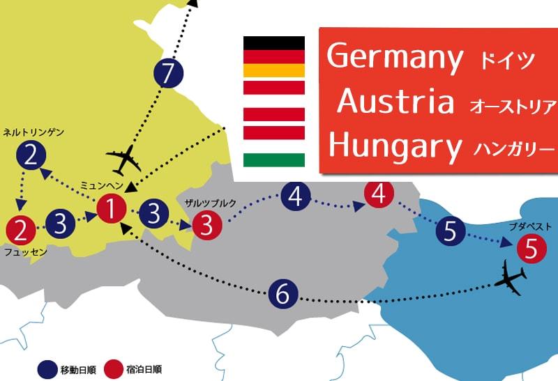 ドイツ~オーストリア~ハンガリー周遊の日程・費用・旅行記まとめ
