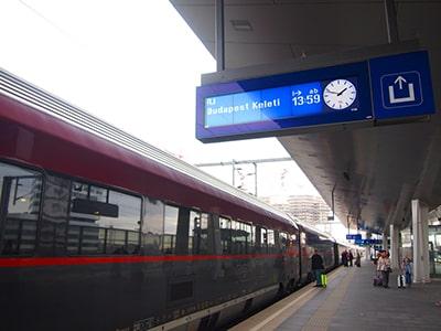 ウィーン~ブダペストのレイルジェット