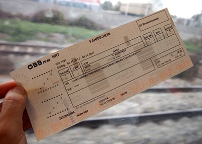 ウィーン~ブダペスト国際線チケット