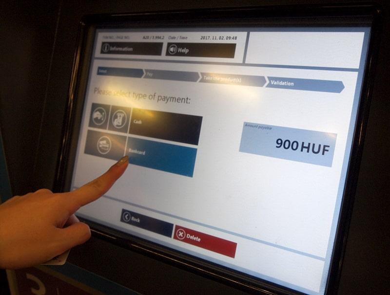 ハンガリーBKK券売機