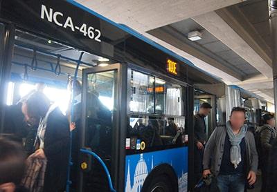 ブダペスト市内~空港100Eバス