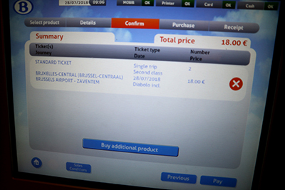 ベルギーでの列車チケットの買い方