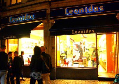 レオニダスのブリュッセルグランプラス店