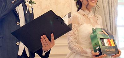 結婚式での抽選会