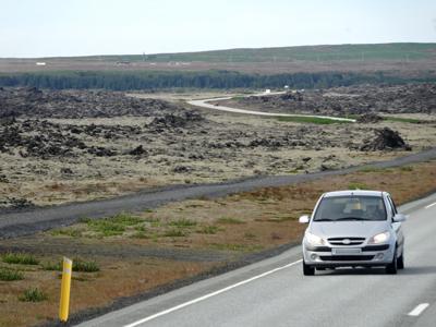 アイスランド空港~市内への道