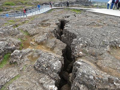 シンクヴェトリル国立公園の地球の割れ目ギャウ