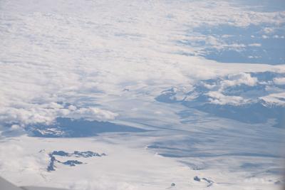 上空から見たアイスランド