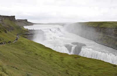 アイスランドグルフォスの滝