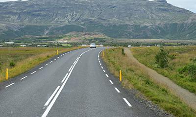 アイスランドの車窓景色