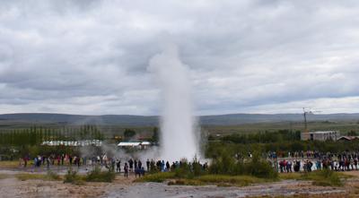 アイスランドのストロックル間欠泉