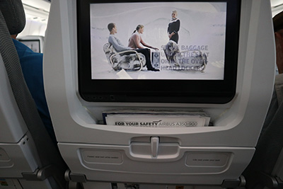 2018年フィンエアー関空→ヘルシンキ機内