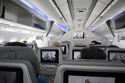 フィンエアー2018年関空→ヘルシンキ機内A350XWB機