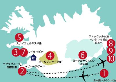 アイスランド旅行のルート計画