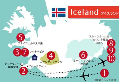 アイスランド旅行スケジュール