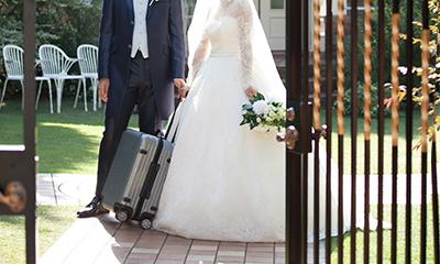 旅行がテーマの結婚式