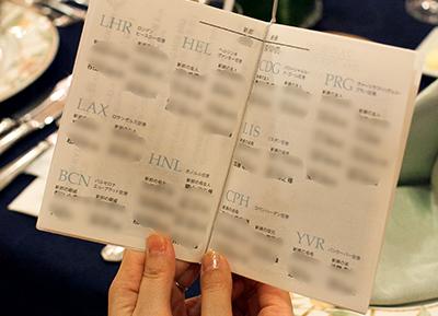 パスポート風席次表&プロフィール