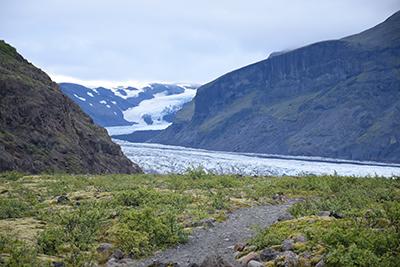 スカフタフェル国立公園からのヴァトナヨークトル氷河