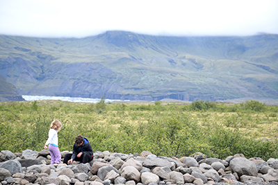 アイスランドの風景スカフタフェル国立公園から
