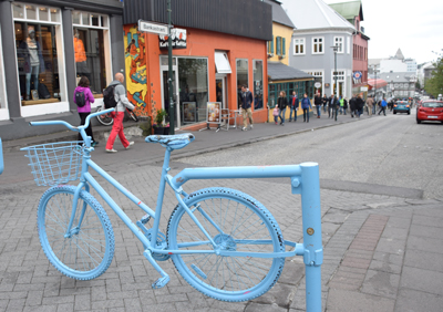 アイスランド、レイキャビクの繁華街