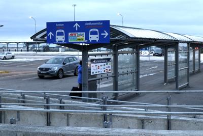 ケプラヴィーク空港到着出口
