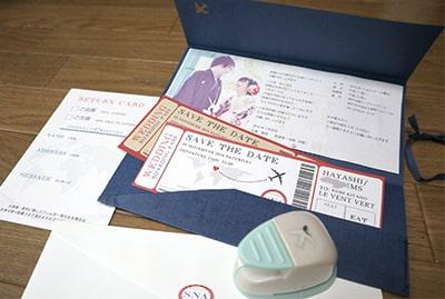 旅行がテーマの結婚式招待状