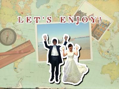 旅行がテーマの結婚式オープニングムービー