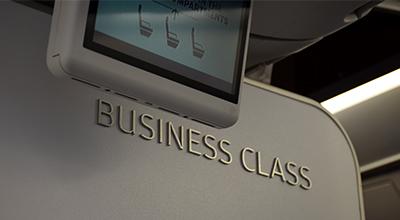 フィンエアー短距離路線のビジネスクラス