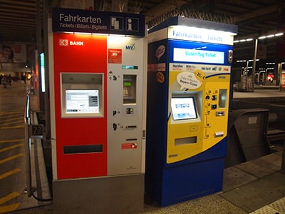 ドイツ鉄道DBのミュンヘン駅券売機