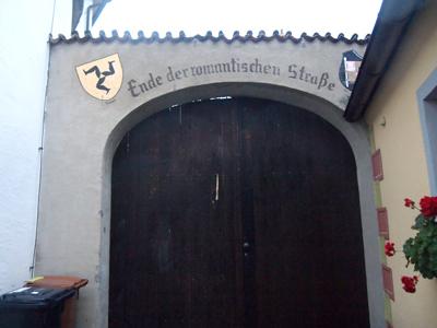 ロマンティック街道終点の家の壁