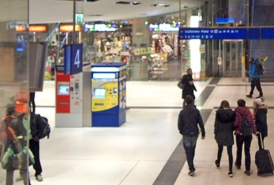 ザルツブルク中央駅のDB券売機