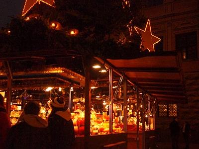 アウグスブルク市庁舎広場のクリスマスマーケット