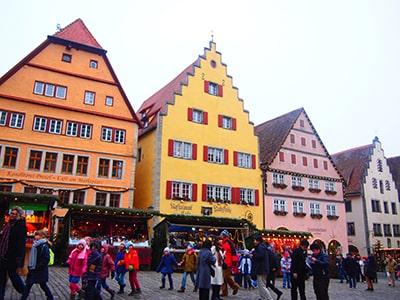 ローテンブルクマルクト広場のクリスマスマーケット